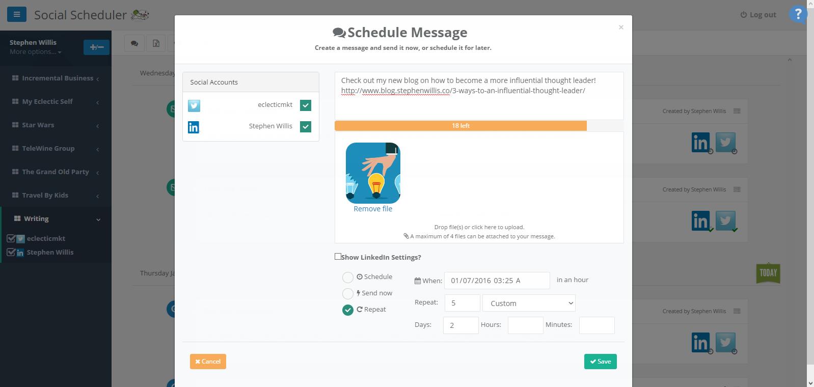 social scheduler